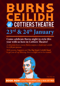 Burns night ceilidh Cottiers Glasgow