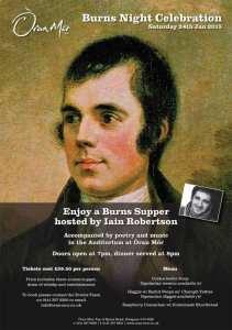 Burns night Oran mor Glasgow