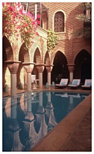 Outdoor pool la sultana hotel Marrakesh Morocco