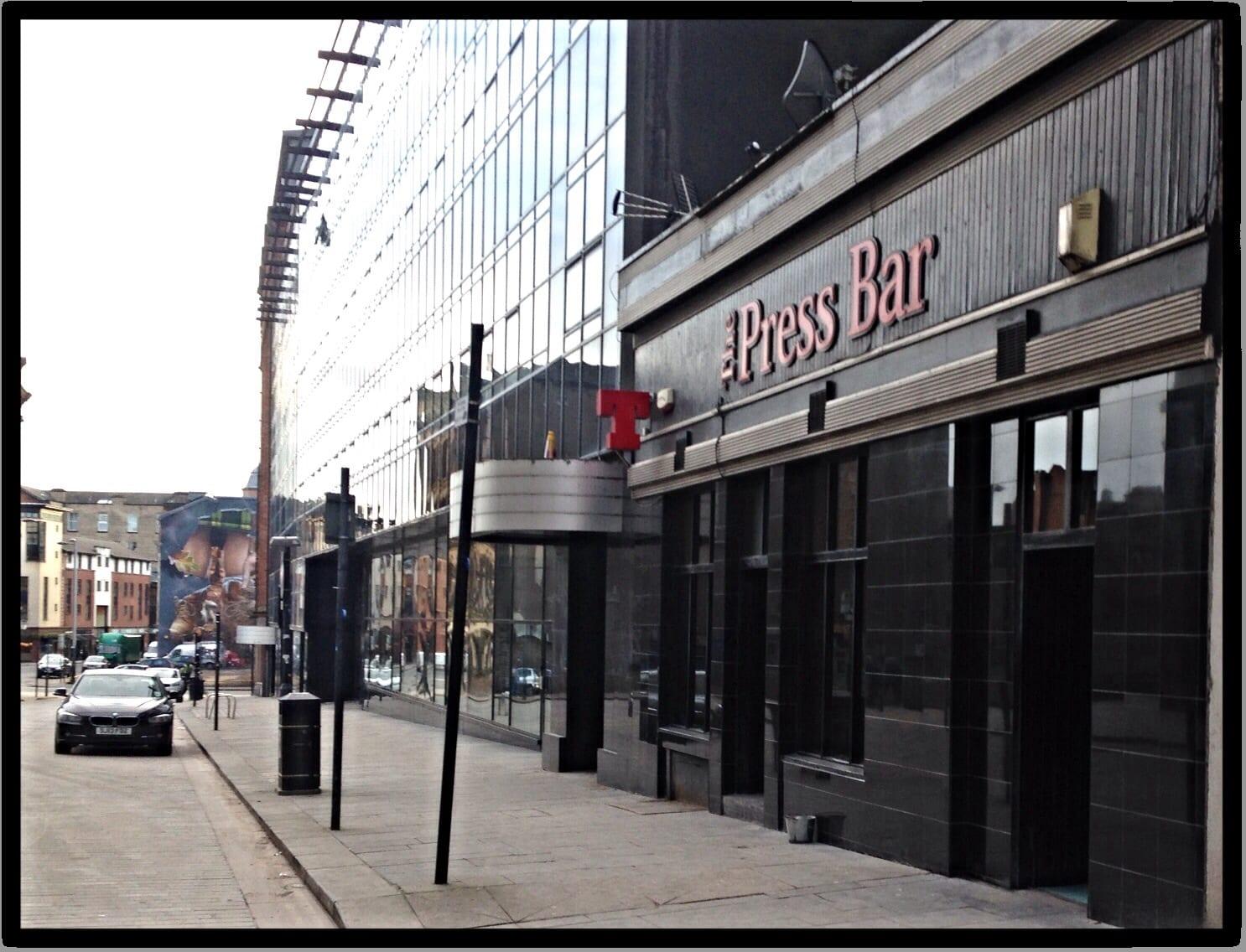 The press bar Albion street Glasgow