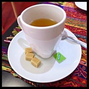 Lemon and mint tea Kervan palace Glasgow turkish