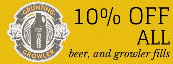 Grunting growler the drake beer Glasgow