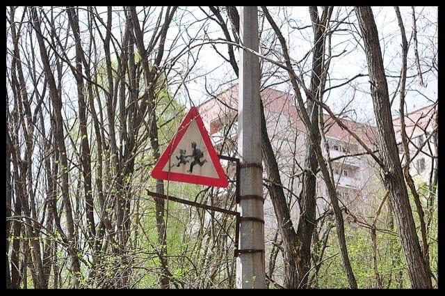 school kids sign pripyat