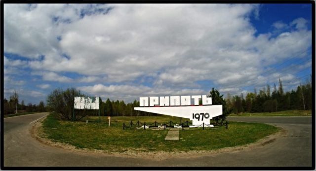 pripyat city sign chernobyl