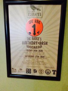 the raven bar glasgow first bithday