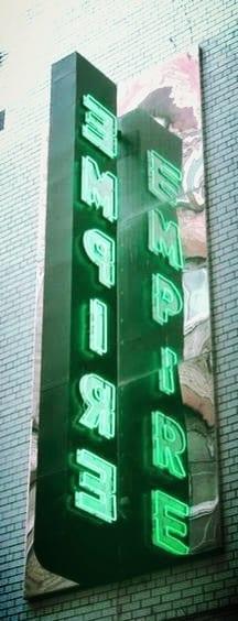 heverlee tontine lane empire sign glasgow pop up bar