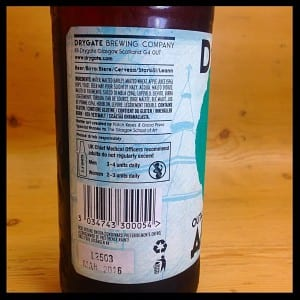drgate brewery outaspace apple ale glasgow foodie explorers beer review