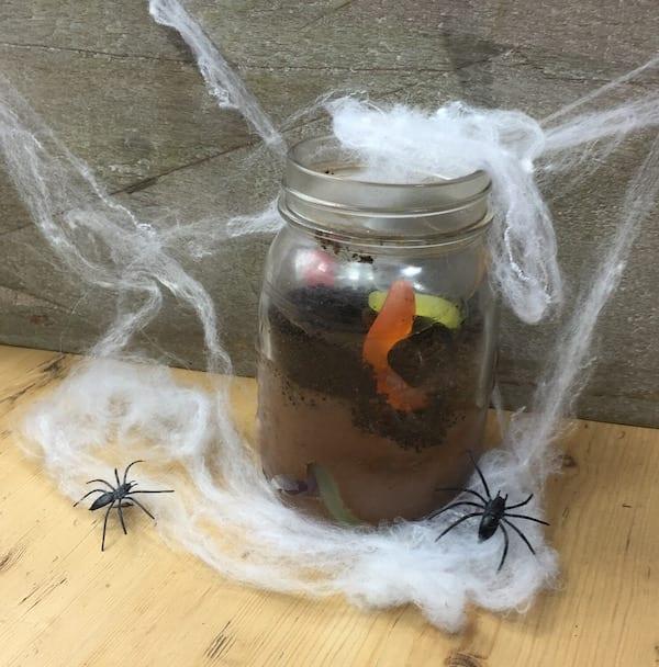 Halloween_worm_Dirt glasgow foodie explorers halloween recipe