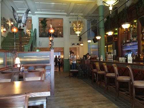 Glasgow foodie explorers food travel blog Trading_house_Glasgow_inside