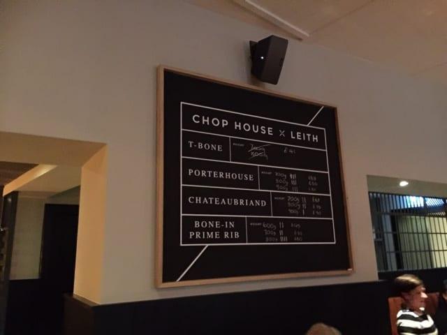 leith chop house edinburgh restaurant bar steak beer glasgow foodie explorers
