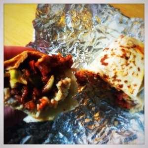 chorizo burrito taco mazama glasgow central railway station tex mex mexican glasgow foodie exlorers