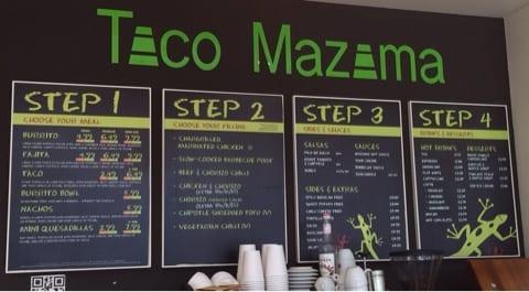 menu taco mazama glasgow central railway station tex mex mexican glasgow foodie exlorers