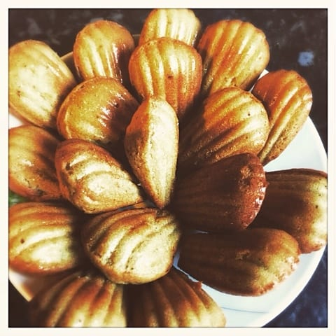 rose honey matcha madeleines french glasgow foodie explorers recipe
