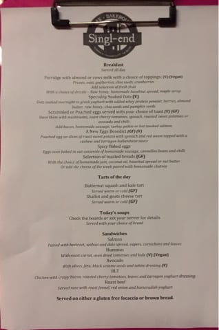 singl end glasgow foodie explorers menu