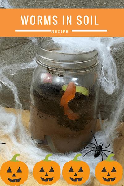 worms_in_soil_Image glasgow foodie explorers halloween recipe