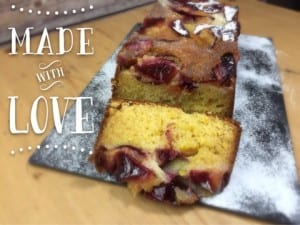 lemon pound cake with plums recipe