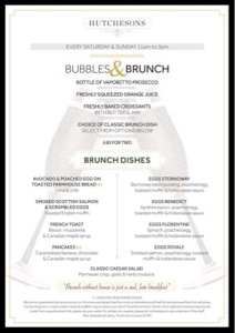 bubbles and brunch hutchesons glasgow
