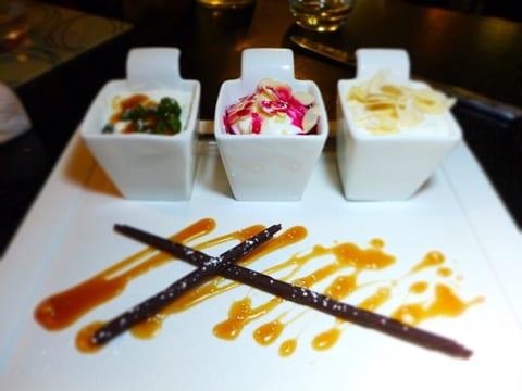 trio of greek yoghurt frosoullas greek southside glasgow foodie explorers