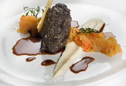 haggis neeps and tatties starter from gleneagles hotel