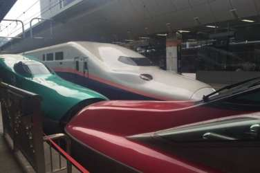 Shinkansen bullet train Glasgow foodie explorers Japan