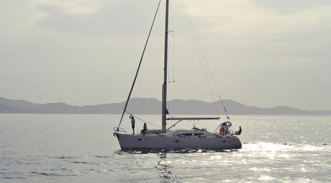 Boats in the Adriatic sea