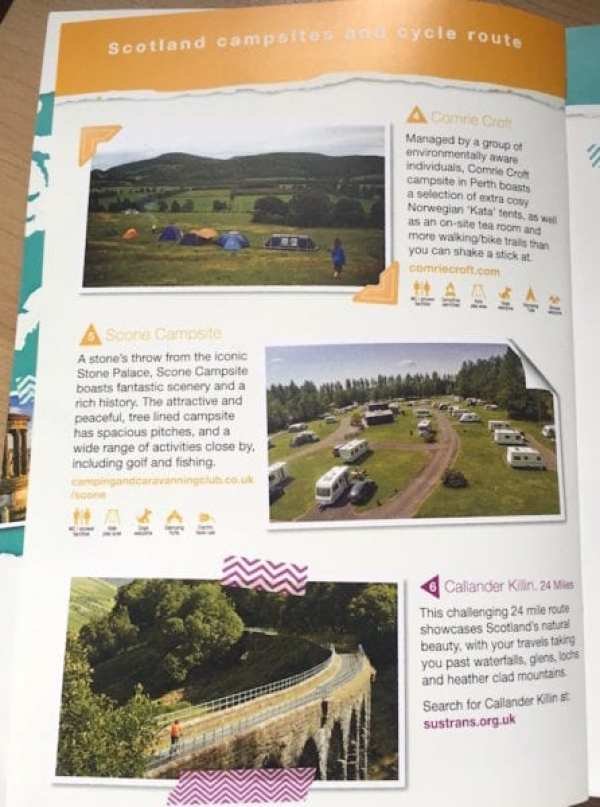 halfords camping guide booklet scotland campsites