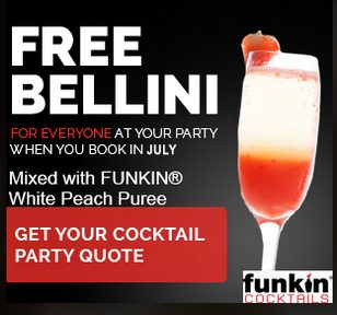social and cocktail july advert