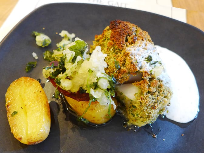 Herb crusted cod