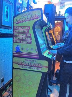 TENNENTS lager barcade