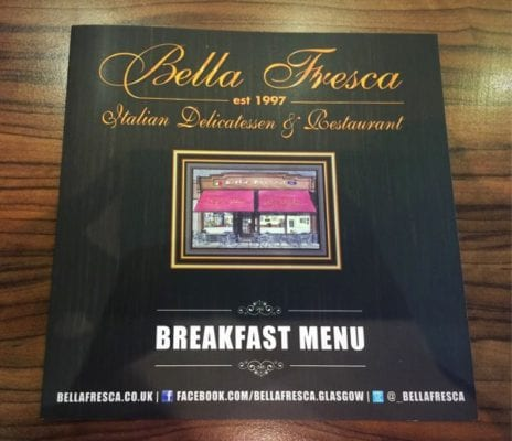 Bella Fresca Cardonald Glasgow