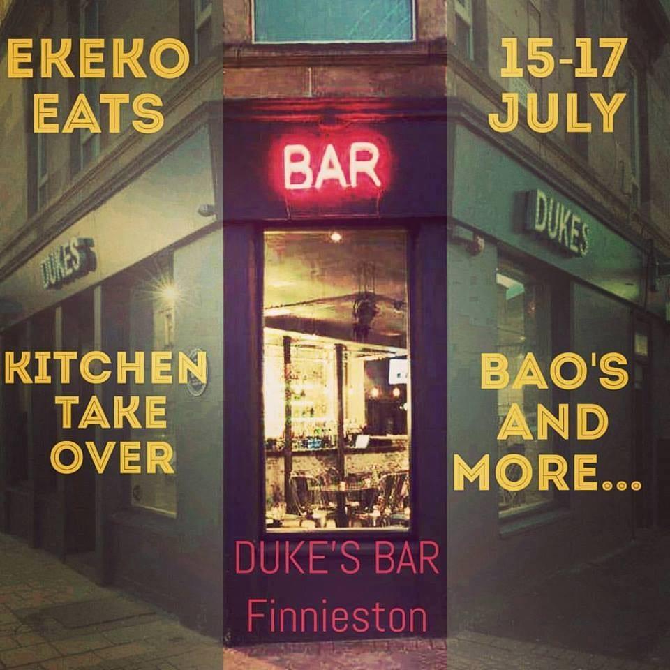 Ekeko eats dukes bar Glasgow pop up