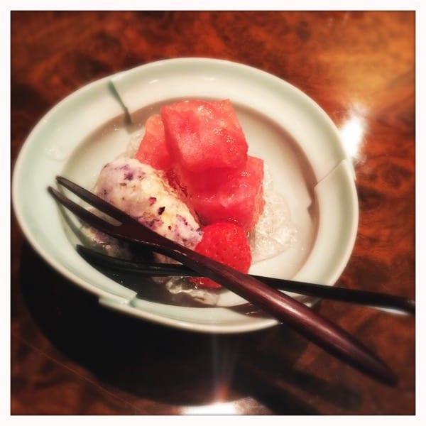 Gion Nanba - watermelon dessert