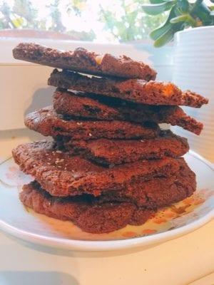 Nutella chocolate cookies