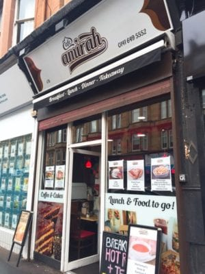 Cafe Amirah Shawlands Glasgow