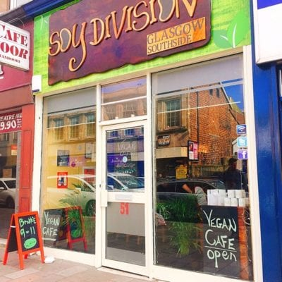 Soy division vegan cafe Shawlands Glasgow