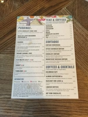 Las iguanas Glasgow foodie