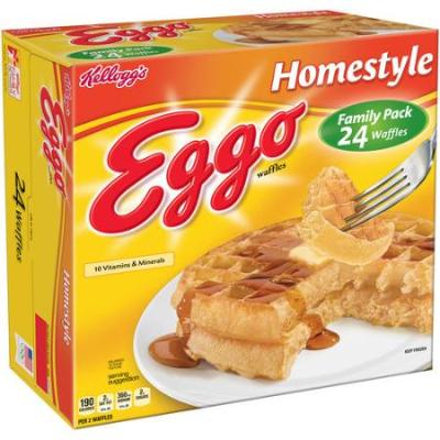 """When the Dorsas first introduced the product it was called """"Froffles"""", a portmanteau of frozen waffles. However people started referring to them as """"eggos"""" due to their eggy taste. The name caught on and the brothers began using the moniker in marketing. Eventually the name became synonymous with the product and, in 1955, the Dorsa brothers officially changed the name to """"Eggo""""."""