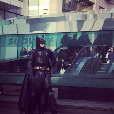 Batman Glasgow subway birthday