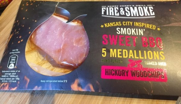 Henry Denny's fire and smoke BBQ bacon medallions