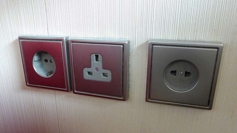 CitizenM Glasgow - international sockets
