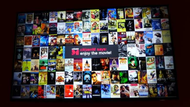 CitizenM Glasgow - movie selectionCitizenM Glasgow - movie selection