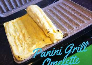 Panini grill press maker omelette recipe