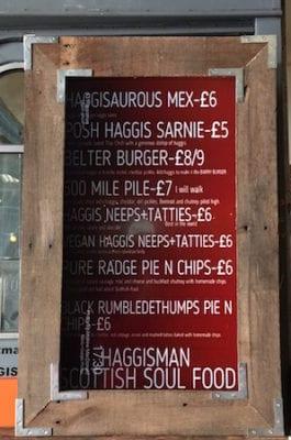 Big feed haggisman menu