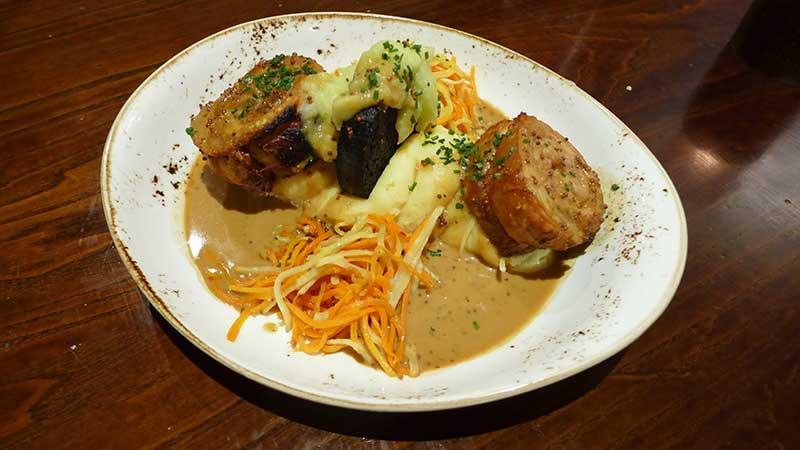 Roast belly of Ayrshire pork belly & Stornoway black pudding
