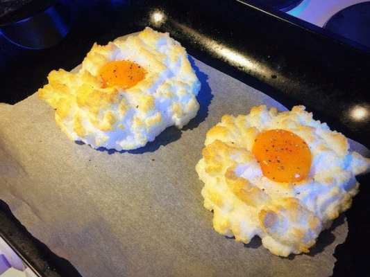 Glasgow food blog Cloud Egg Recipe Instructions Step 8