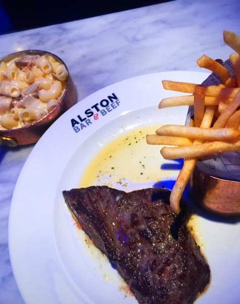 Alston Bar and beef glasgow steak chips