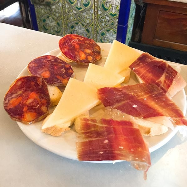 Las Teresas snacking cheese and meat, Seville