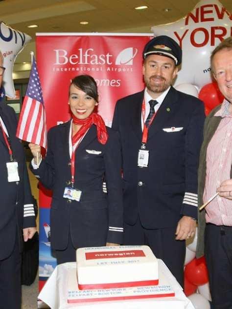 Norwegian airline Belfast to New York and Boston
