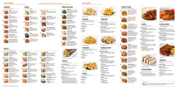 Menu Yo! Sushi new opening glasgow