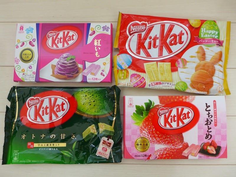Flavoured KitKats Japan